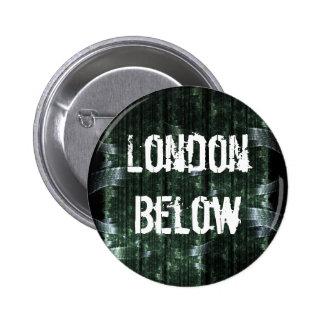 Londres abajo pin redondo de 2 pulgadas