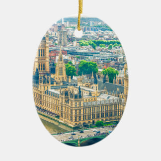 Londres Adorno Navideño Ovalado De Cerámica