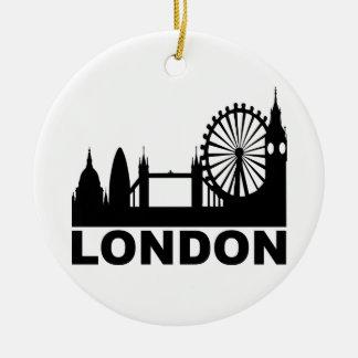 Londres Adorno Navideño Redondo De Cerámica