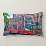 Londres al autobús de dos plantas rojo Reino Unido Almohadas