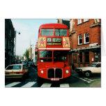 Londres # autobús de dos plantas 73 felicitaciones