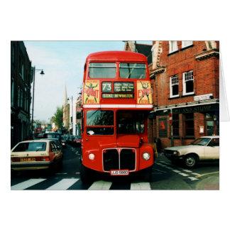 Londres # autobús de dos plantas 73 tarjeta de felicitación