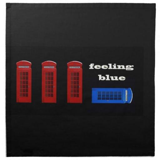 Londres azul de sensación Inglaterra Servilletas De Papel