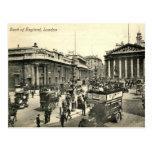Londres, Banco de Inglaterra, vintage 1918 Postal