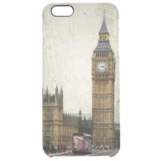 Londres Big Ben y autobús Funda Transparente Para iPhone 6 Plus
