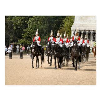 Londres, caballería del hogar, cambiando al guardi tarjeta postal