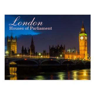 Londres - casas de la postal del parlamento