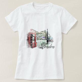 Londres coloreó bosquejo remeras