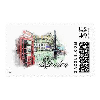 Londres coloreó bosquejo sellos