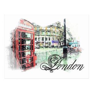 Londres coloreó bosquejo postal