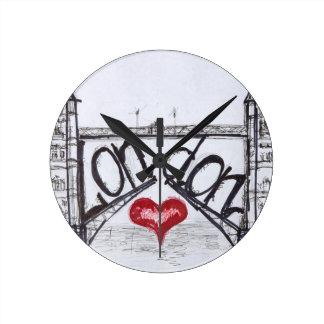 Londres con amor reloj de pared
