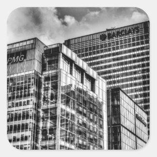 Londres corporativo pegatina cuadrada