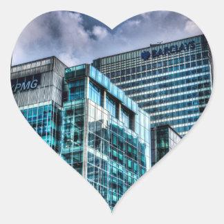 Londres corporativo pegatina en forma de corazón