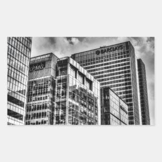 Londres corporativo pegatina rectangular