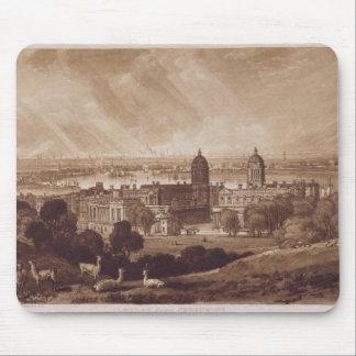 Londres de Greenwich, grabado por Charles Turner Alfombrillas De Ratones