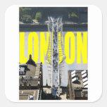 Londres el río Támesis Colcomanias Cuadradases