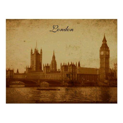 Londres el río Támesis y el parlamento Postales