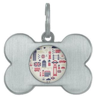 Londres en el corazón placa mascota