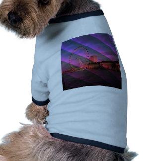Londres en rayas camiseta con mangas para perro