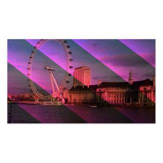 Londres en rayas tarjeta de visita