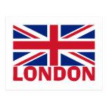 Londres en rojo postal
