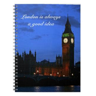 Londres es siempre una buena idea spiral notebook