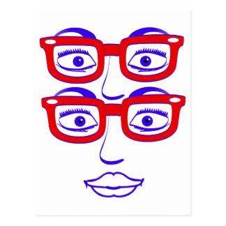 Londres Geeky cuatro ojos Postales