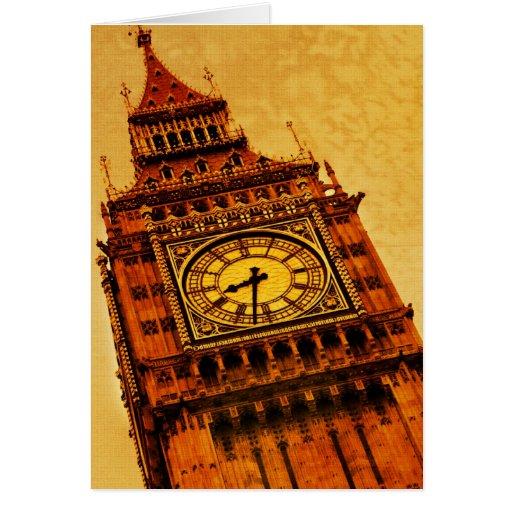 Londres, grunge de Big Ben Tarjeta