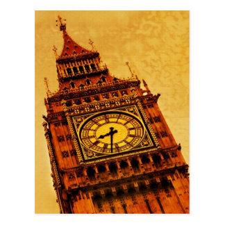 Londres, grunge de Big Ben Tarjeta Postal