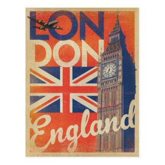 Londres, Inglaterra - bandera Postal