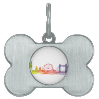 Londres Inglaterra Placa De Nombre De Mascota