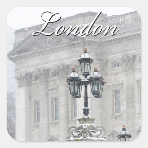 Londres Inglaterra Pegatinas Cuadradas Personalizadas