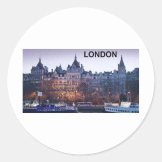 LONDRES (Kan.K) Pegatina Redonda