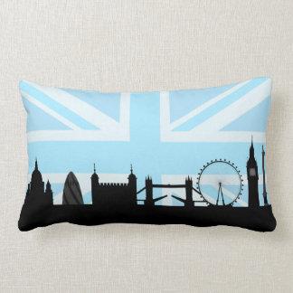 Londres localiza el horizonte y Union Jack Cojín