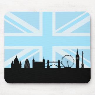 Londres localiza el horizonte y Union Jack Mousepad