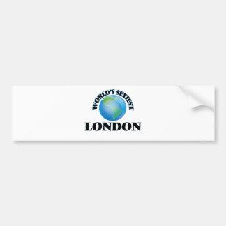 Londres más atractivo del mundo etiqueta de parachoque