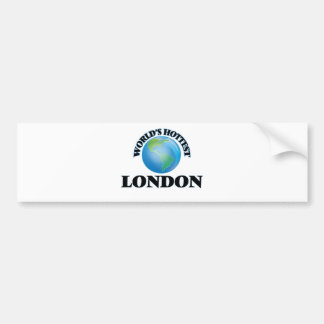Londres más caliente del mundo etiqueta de parachoque