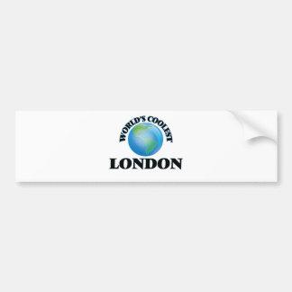Londres más fresco del mundo etiqueta de parachoque