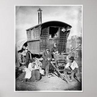 Londres Nomades, c.1876 Póster