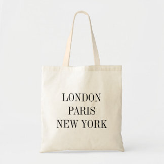 Londres, París, Nueva York Bolsa Tela Barata