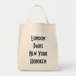 Londres París Nueva York Hoboken Bolsa Tela Para La Compra