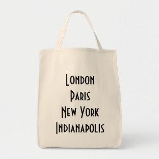 Londres París Nueva York Indianapolis Bolsa Tela Para La Compra