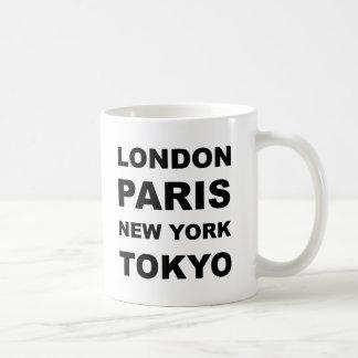 Londres, París, Nueva York, Tokio Taza Clásica