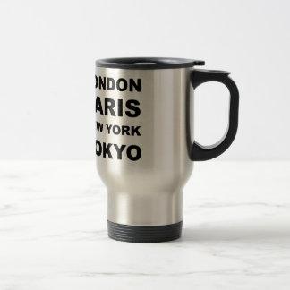 Londres, París, Nueva York, Tokio Taza De Viaje