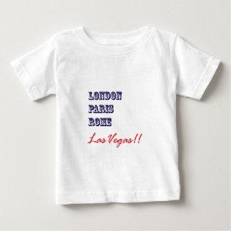 Londres París Roma, Las Vegas Playera De Bebé