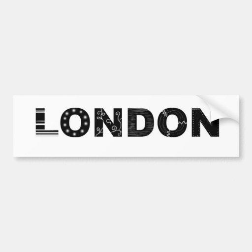 Londres Pegatina Para Auto