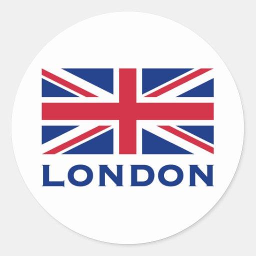Londres Pegatina Redonda