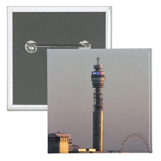 Londres Pin Cuadrada 5 Cm