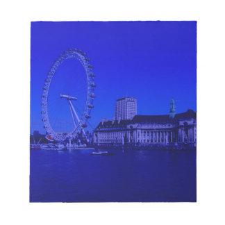 Londres, profundamente azul bloc de notas