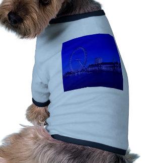 Londres, profundamente azul camiseta con mangas para perro